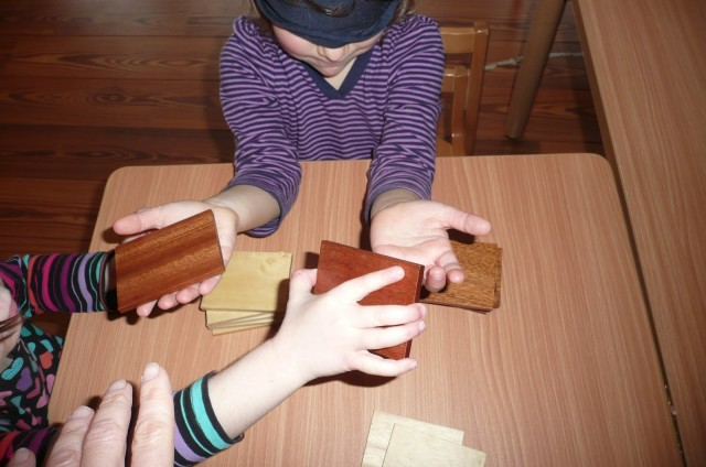 Holding pieces of wood