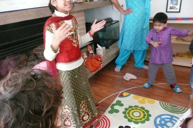 Bollywood style dancing